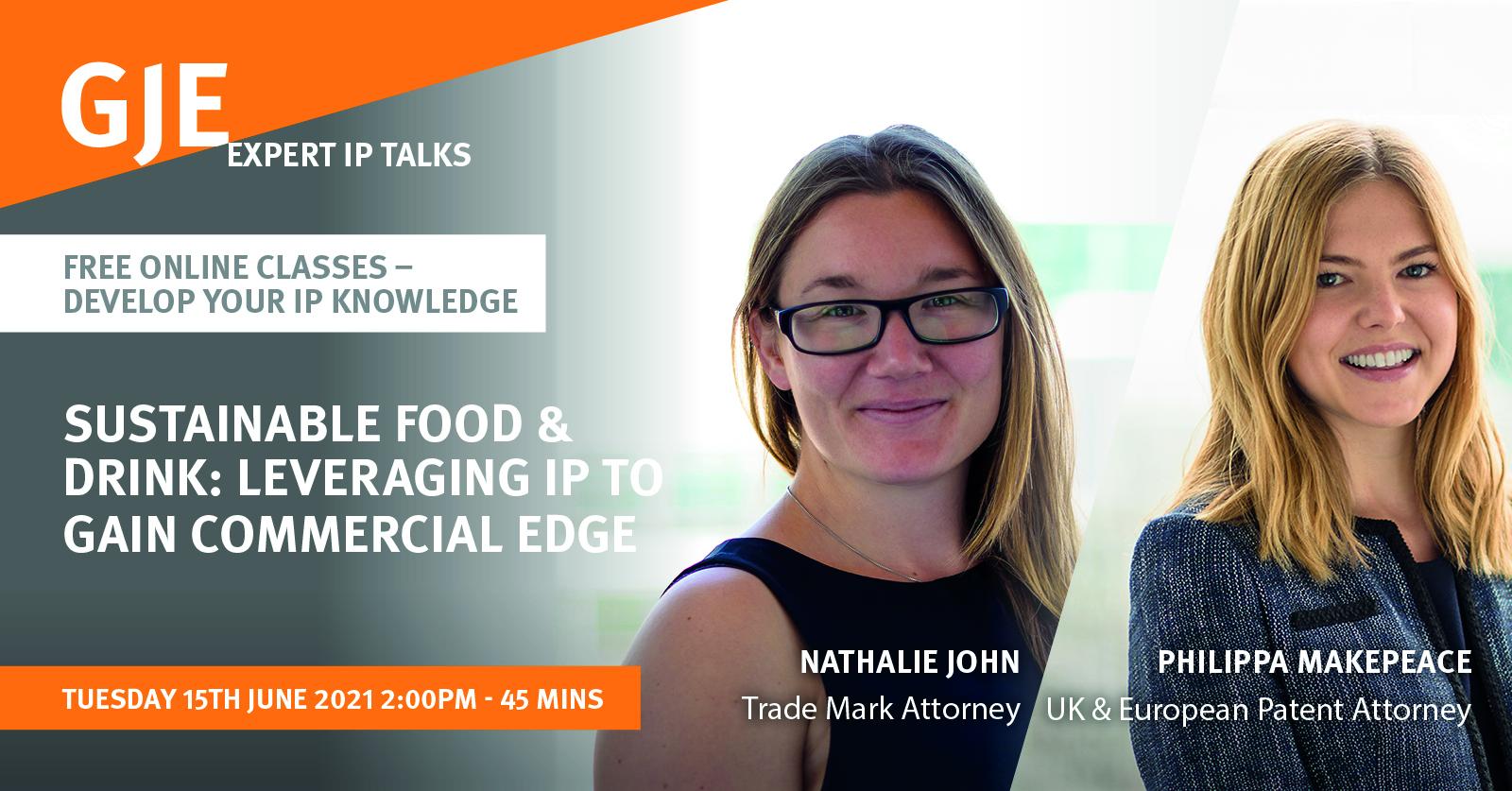 Expert IP Talks LinkedIn Graphic – Nat and Philippa